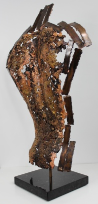 Sculpture de Philippe Buil en metal : dentelle de bronze Dos Kouros Ce n'est pas moi Piece unique