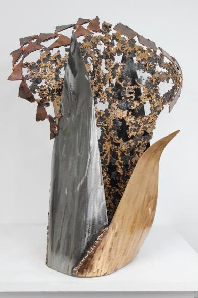 55 Kouros Asphalte - Sculpture Philippe Buil - Bronze et acier 4