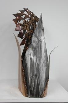 55 Kouros Asphalte - Sculpture Philippe Buil - Bronze et acier 5