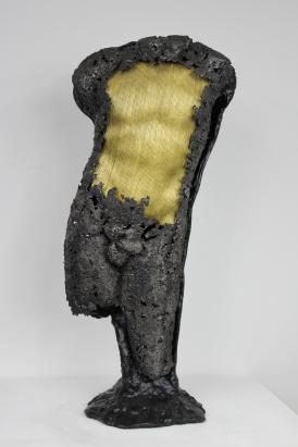 22 - Cabinet Curiosité Golem - Sculpture Philippe Buil - Acier Corde Platre - 1