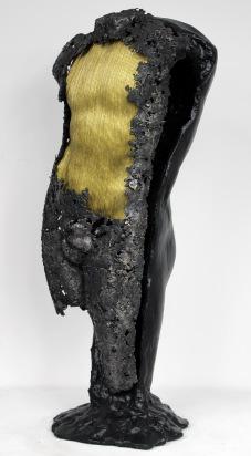 22 - Cabinet Curiosité Golem - Sculpture Philippe Buil - Acier Corde Platre - 2