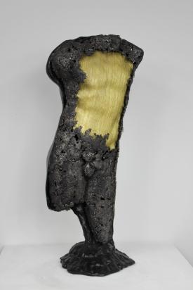 22 - Cabinet Curiosité Golem - Sculpture Philippe Buil - Acier Corde Platre - 7