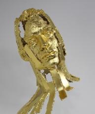 philippe buil sculpteur Kouros Or 24 carats Icar T