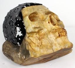 Sculpture de Philippe Buil en dentelle d'acier et bois Fouque Wittig Hauteur 18 cm 8 Kg Piece unique