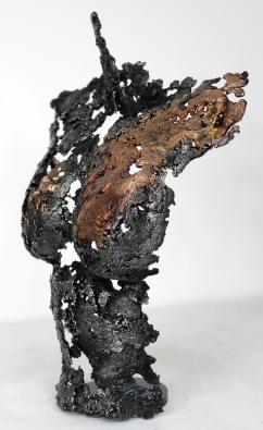 Sculpture de Philippe Buil en dentelle de bronze et d'acier Pavarti Hiatus Hauteur 29 cm 1 Kg Piece unique