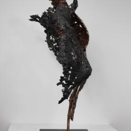 22 - Connect The First - Sculpture Philippe Buil - Dentelle Bronze et Acier 10