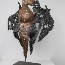 22 - Connect The First - Sculpture Philippe Buil - Dentelle Bronze et Acier 2