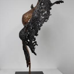 22 - Connect The First - Sculpture Philippe Buil - Dentelle Bronze et Acier 5