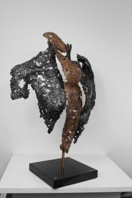 22 - Connect The First - Sculpture Philippe Buil - Dentelle Bronze et Acier 6
