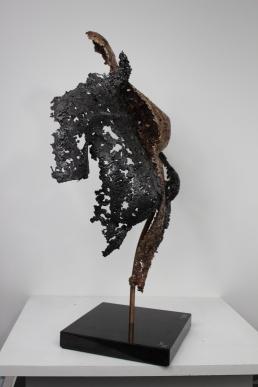 22 - Connect The First - Sculpture Philippe Buil - Dentelle Bronze et Acier 8