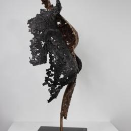 22 - Connect The First - Sculpture Philippe Buil - Dentelle Bronze et Acier 9
