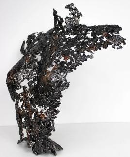 Sculpture de Philippe Buil en metal : dentelle d'acier et de bronze Belisama Lidwine Piece unique