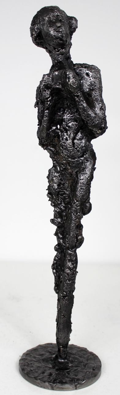 Sculpture de Philippe Buil en metal acier représentant la muse de Massenet Muse Ombre Piece unique