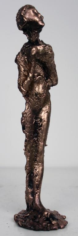 Sculpture de Philippe Buil en metal Bronze représentant la muse de Massenet Piece unique Muse Gaia
