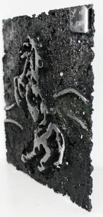 Tableau de Philippe Buil en Acier Cheval Cabre Pièce unique