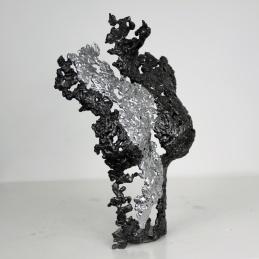 Sculpture représentant un buste de femme en métal : dentelle d'acier avec effet Chrome Pavarti Silver Pièce unique