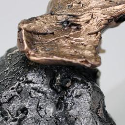 Sculpture de Philippe Buil en metal Dentelle de Bronze et d'acier représentant un elephant Piece unique Elephant Pampan