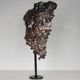 Sculpture représentant un buste d'homme en métal : dentelle de Bronze, d'acier Pavarti Intemporel Pièce unique