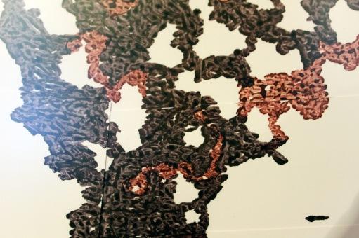 Tableau de Philippe Buil à l'encre sur papier couché réalisé à partir de la sculpture Pavarti Et lui Encadré