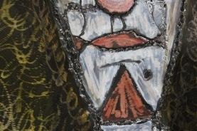 Tableau hommage Bernard Buffet Le Clown Tableau acier encré Création Philippe Buil Pièce unique