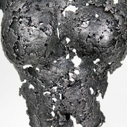 Sculpture représentant le buste d'une femme en métal : dentelle d'acier Pavarti Totem Pièce unique