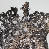 Sculpture de Philippe Buil en metal : dentelle de Bronze et acier Buste de Femme Belisama Epine Piece unique