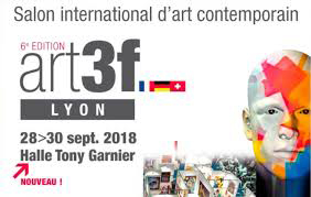 Exposition des Sculptures de Philippe Buil en gouttes de metal Dentelle de bronze et d'acier au salon international d'art contemporain ART3F Lyon Halle Tony Garnier du 28 au 30 septembre 2018