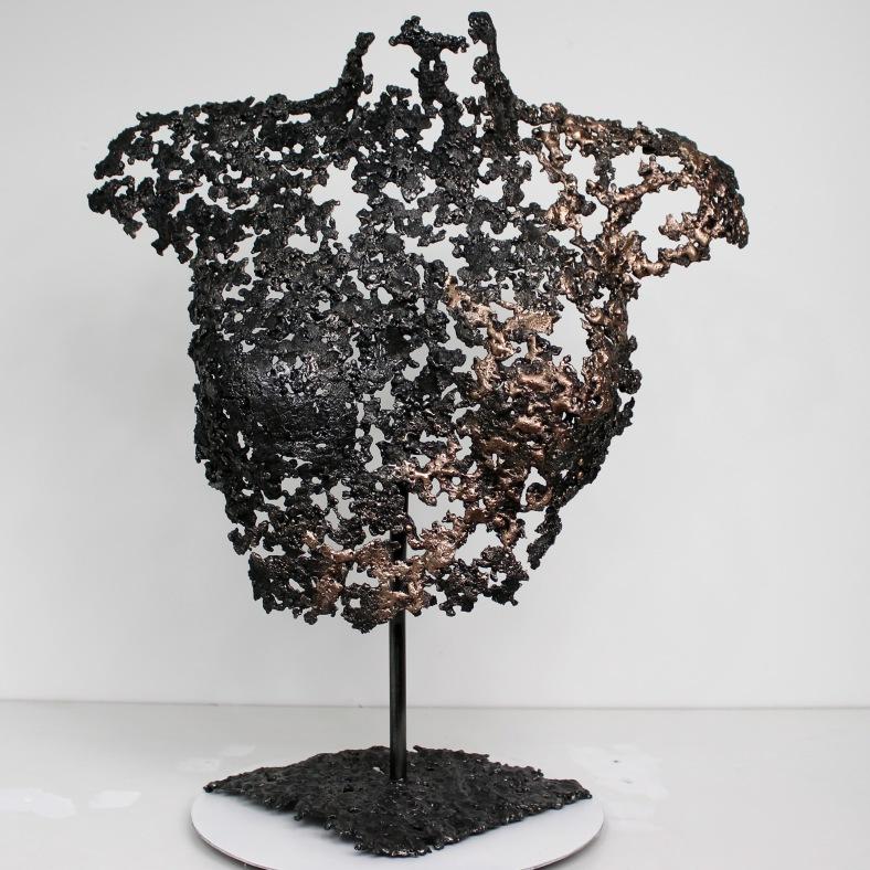 Belisama Opiace - Sculpture Philippe Buil - Buste de femme Metal