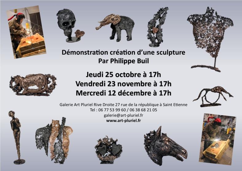 Démonstration Sculpture Philippe Buil