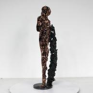 Sculpture de Philippe Buil en metal Bronze et Acier représentant une muse de Massenet Piece unique Muse