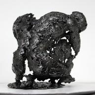 Sculpture représentant le corps d'un homme en métal : dentelle d'acier Pavarti Pacifique Pièce unique
