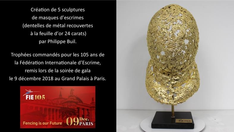 Trophée Sculpture Philippe Buil - Dentelle Bronze et Acier