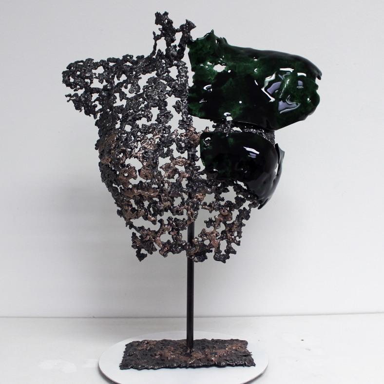 Belisama La rebelle - Sculpture Philippe Buil - Buste de femme M