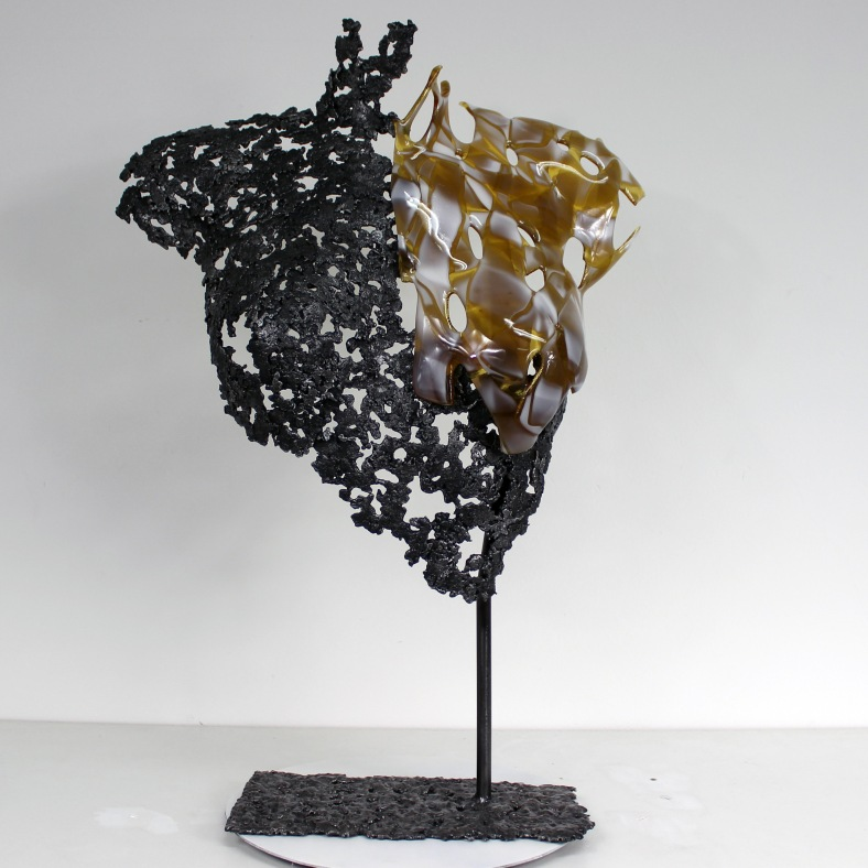 Belisama La Guépard - Sculpture Philippe Buil - Buste de femme