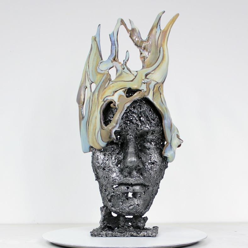 Cabinet curiosité La Douce - Sculpture Philippe Buil - Visage M