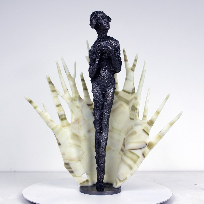 Muse - Sculpture Philippe Buil - Muse de Massenet en dentelle Ac