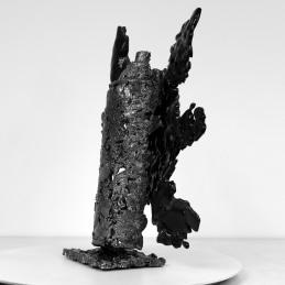 Sculpture de Philippe Buil en metal et verre (steel and glass): dentelle acier et verre Série bombe spray Piece unique