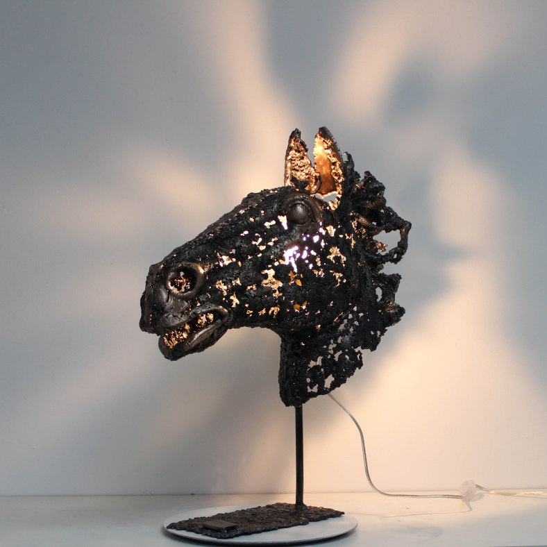 Cheval Visionary - Sculpture Philippe Buil - Tete de cheval en m