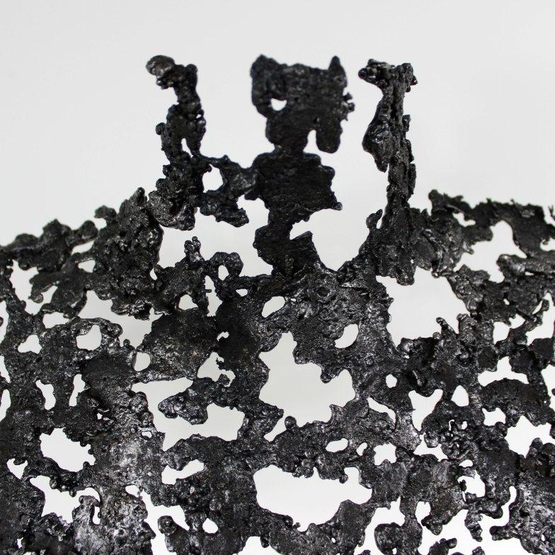 Sculpture de Philippe Buil en metal : dentelle acier Buste de Femme Belisama Espéranza Piece unique Sculpture by Philippe Buil in metal: lace steel Bust of the Woman Belisama Esperanza Unique Piece