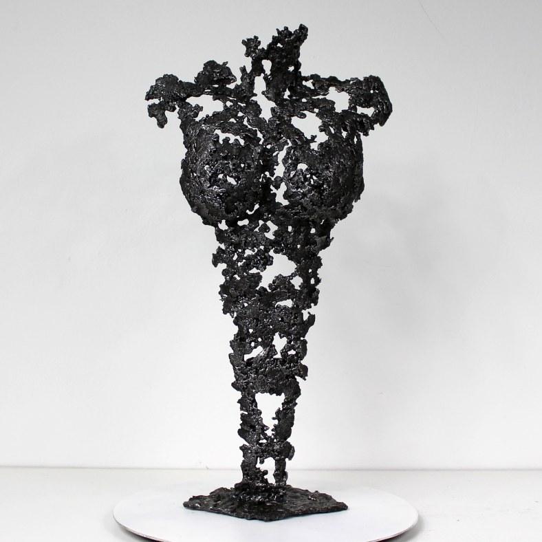 Pavarti black coffee - Sculpture Philippe Buil - Corps de femme