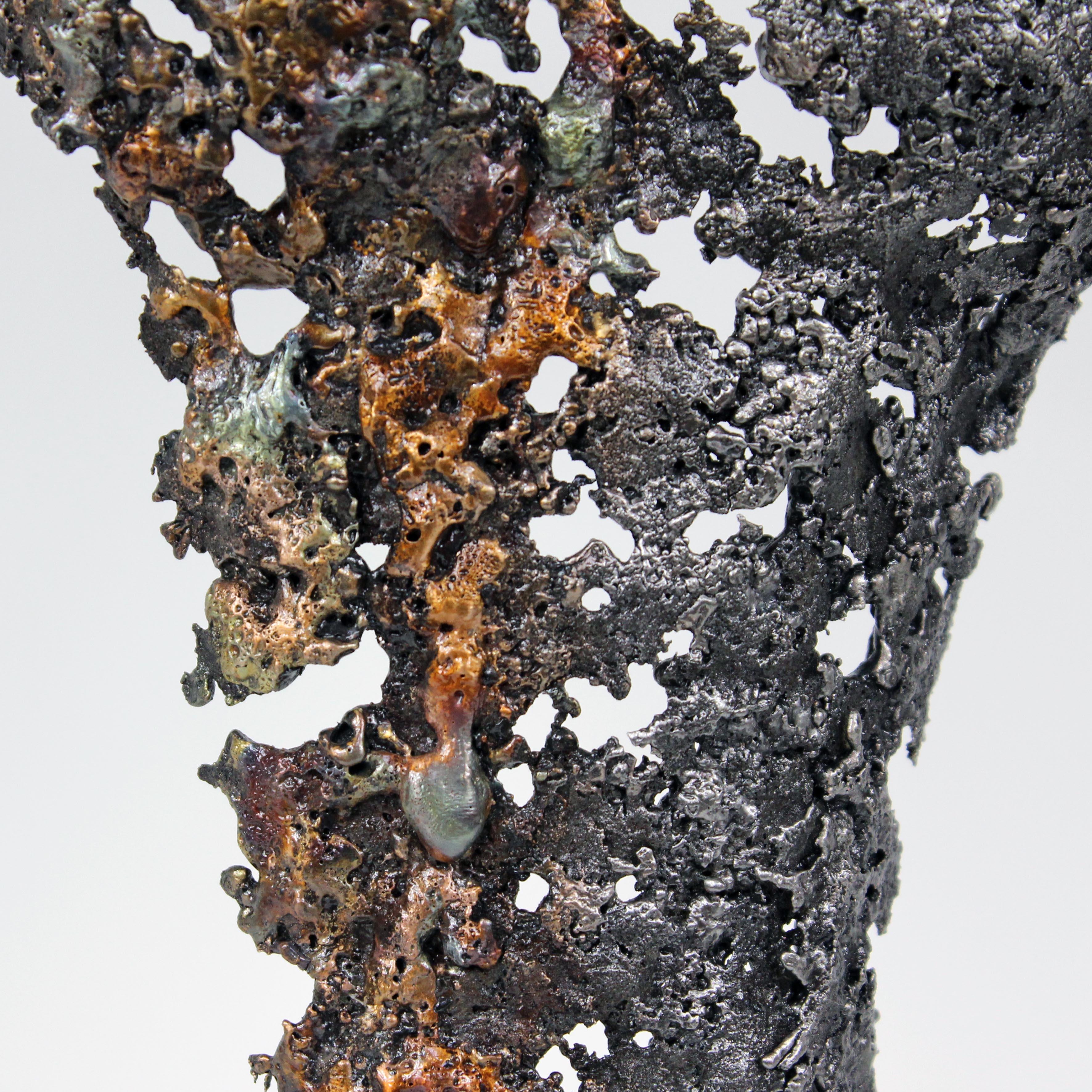 Pavarti Terce - Sculpture Philippe Buil - Corps femme métal dentelle Acier bronze