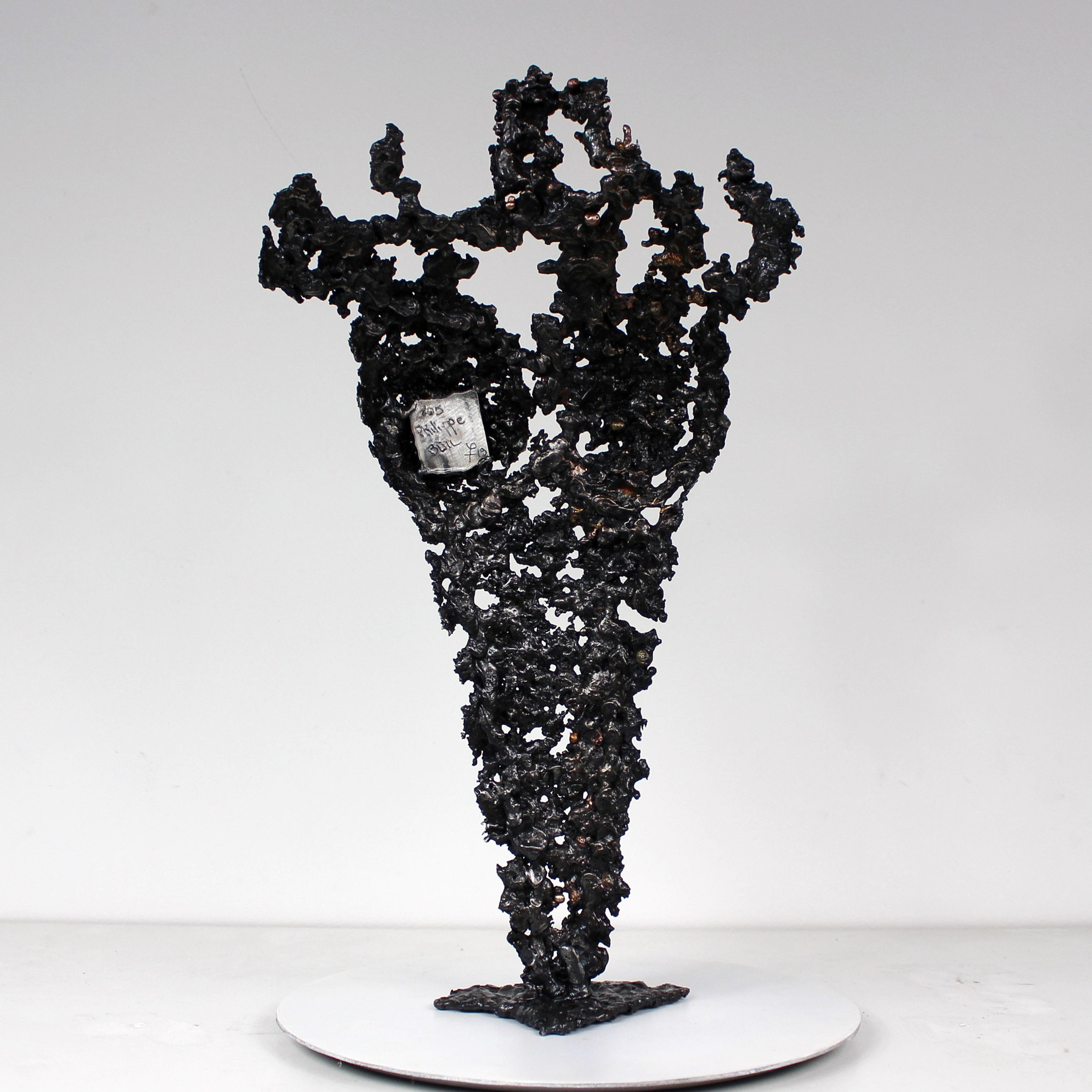 Pavarti Terce - Sculpture Philippe Buil - Corps femme métal dentelle Acier bronzea