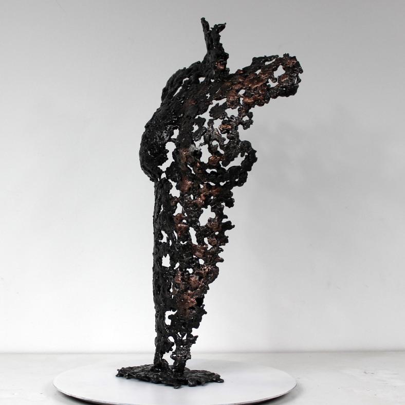 Pavarti Piccola - Sculpture corps femme métal Philippe Buil