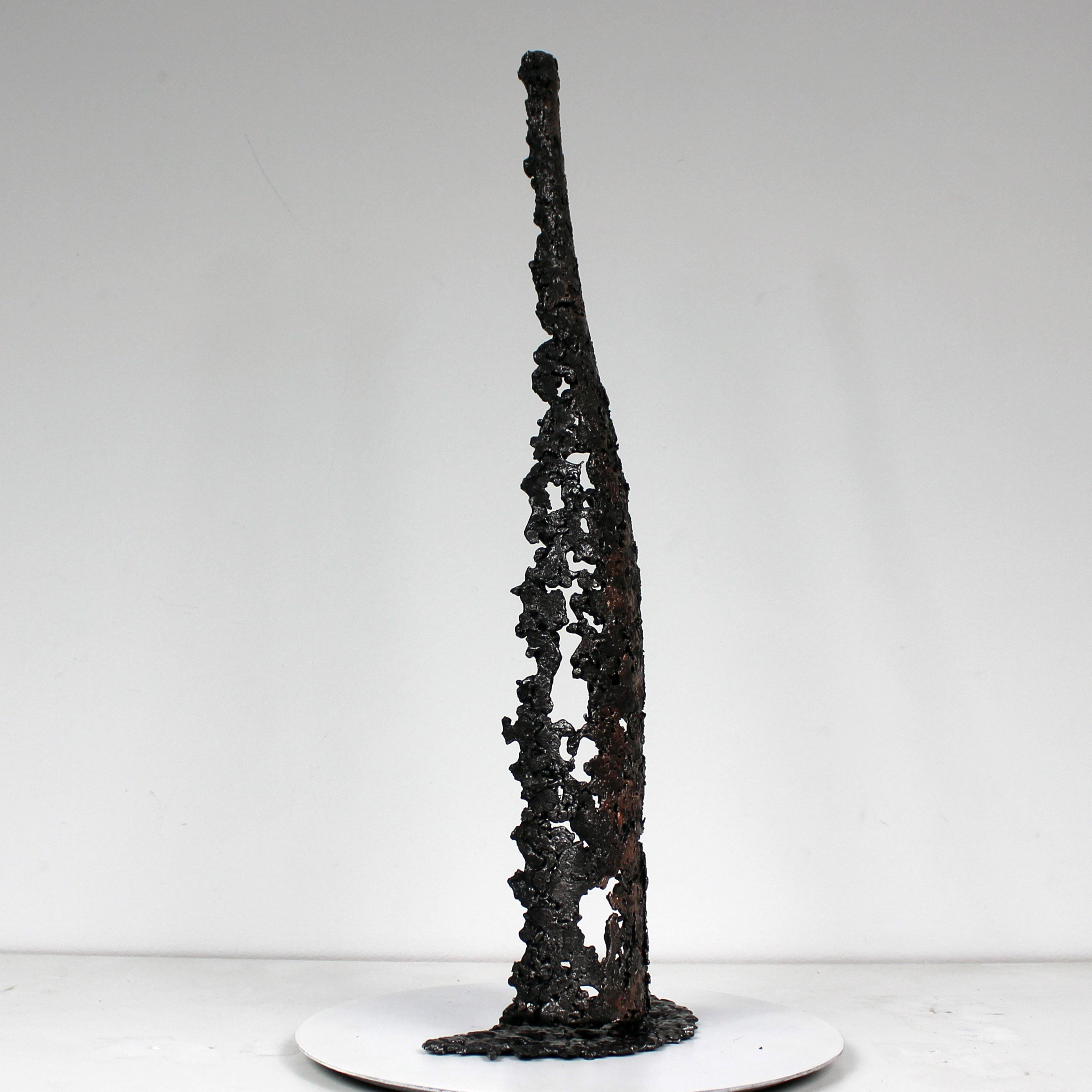 BOUTEILLE POIRE - Sculpture bouteille eau de vie métal